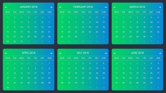 Infographic Modern Metrics Calendar PowerPoint
