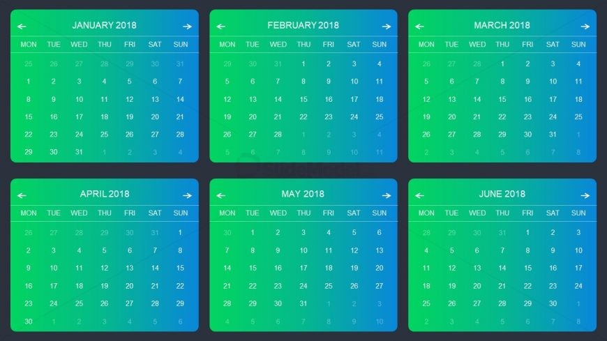 Monthly Charts Template Green