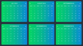 Infographic Design for Calendar Template