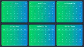 Infographic Design for Calendar Template