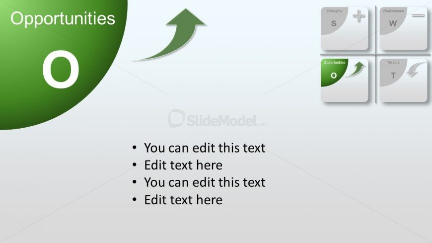 Flat Material PowerPoint Diagram Opportunities