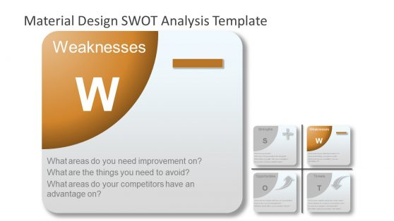 Weakness PowerPoint SWOT Analysis