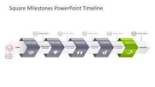Chevron Square Milestones Timeline Design