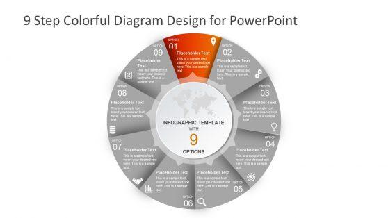 Infographic PowerPoint Diagram Chevron