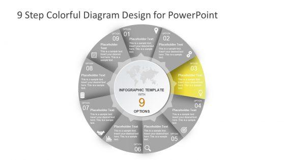 Process Flow PowerPoint 9 Segments