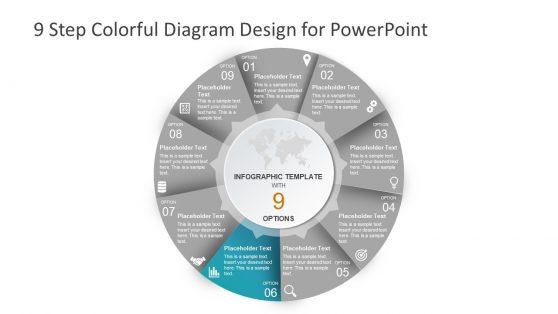 Colorful PowerPoint Circular Diagram