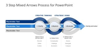 3 Steps Mixed PowerPoint Arrows
