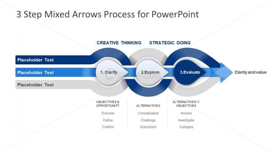 Presentation Diagram of 3 Steps Arrows