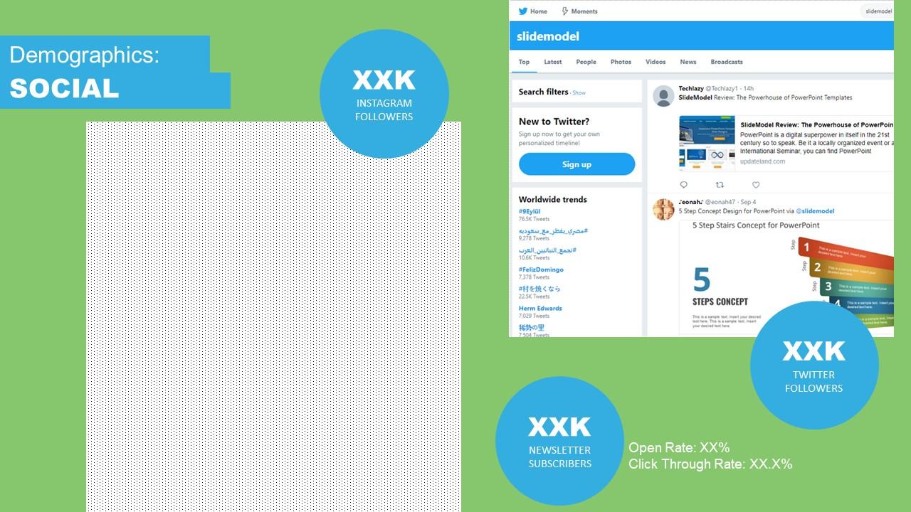 Social Media Layout Slide Model