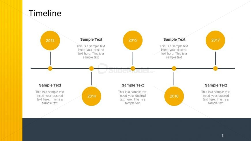 Horizontal Timeline Template with Poles