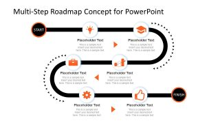 Multi-step Roadmap Journey Concept for PowerPoint