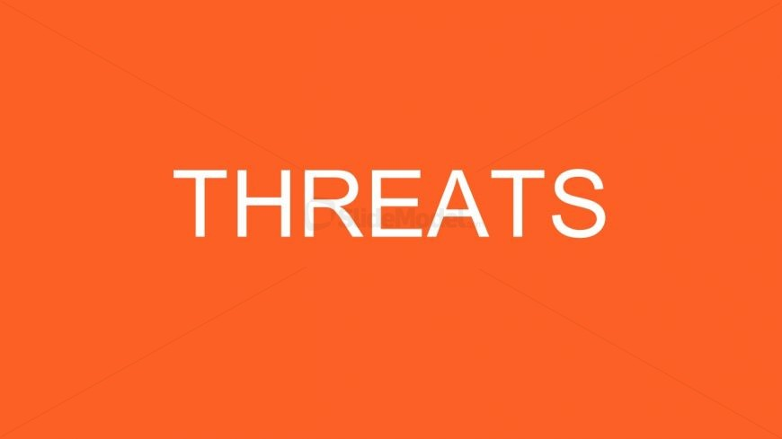 PowerPoint Threats Slide SWOT