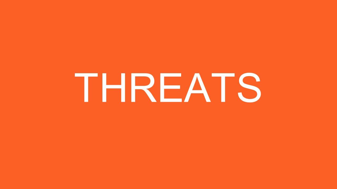 PowerPoint Threats Slide SWOT