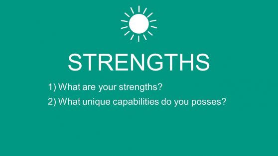 Slide of Strengths in PowerPoint