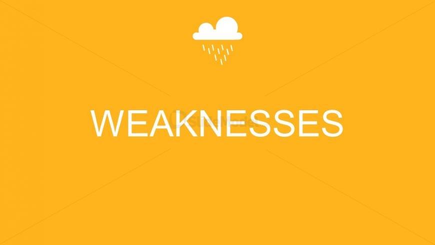 PowerPoint SWOT Template Weakness