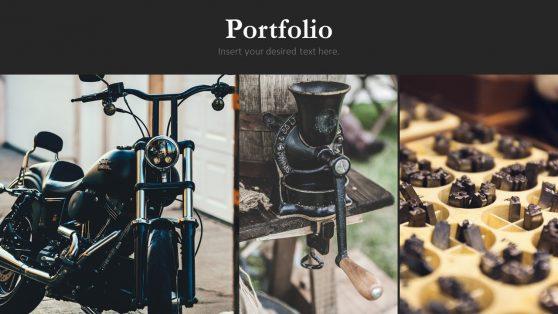 Retro Vintage Minimal Portfolio PPT