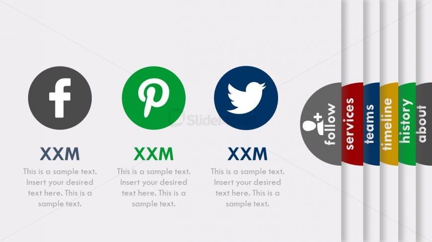 Social Media Contact Slide