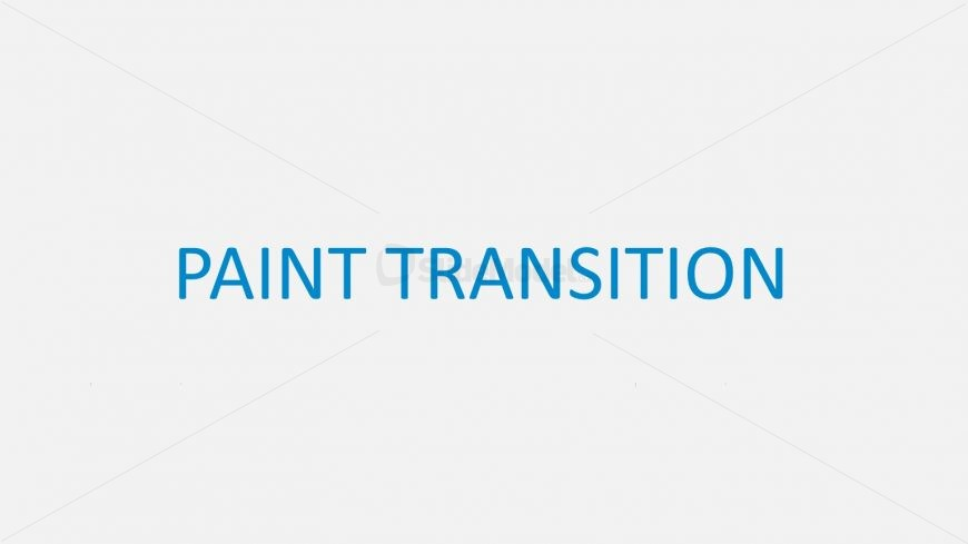 Transition Style of Dropping Paint