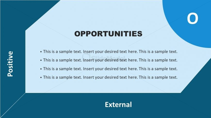 Opportunities Template in Flat SWOT Matrix