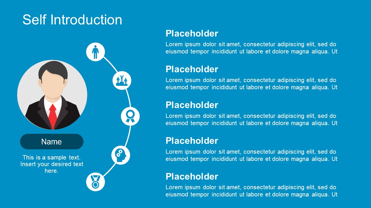 Self Introduction Powerpoint Diagram