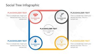 Four Steps cycle Diagram PowerPoint Template
