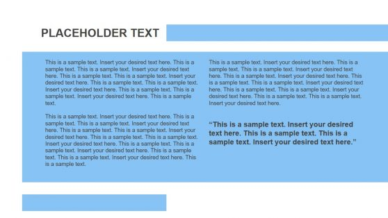 Text and Image Placeholders Brochure PPT