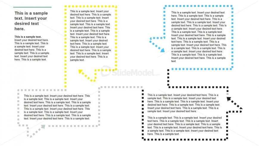 Presentation Template of Dotted Borders