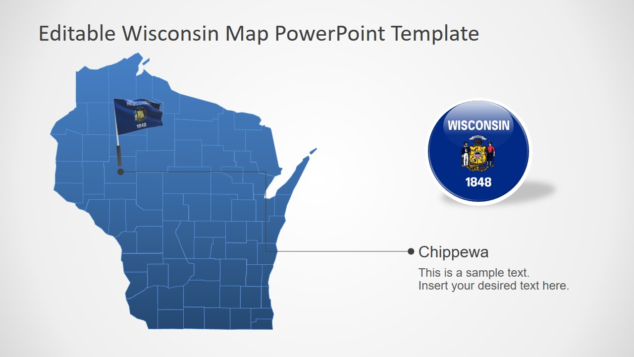USA State Map PowerPoint