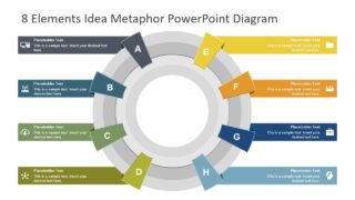 8 Elements Idea Metaphor PowerPoint Diagram