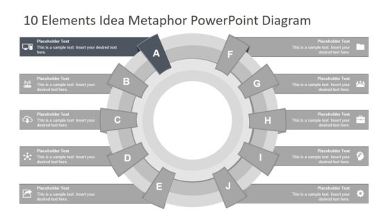 10 Elements Metaphor Infographic PPT