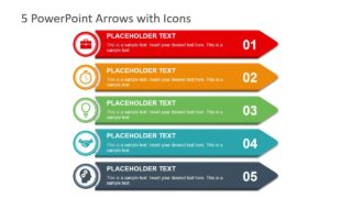 5 PowerPoint Arrows with Icons
