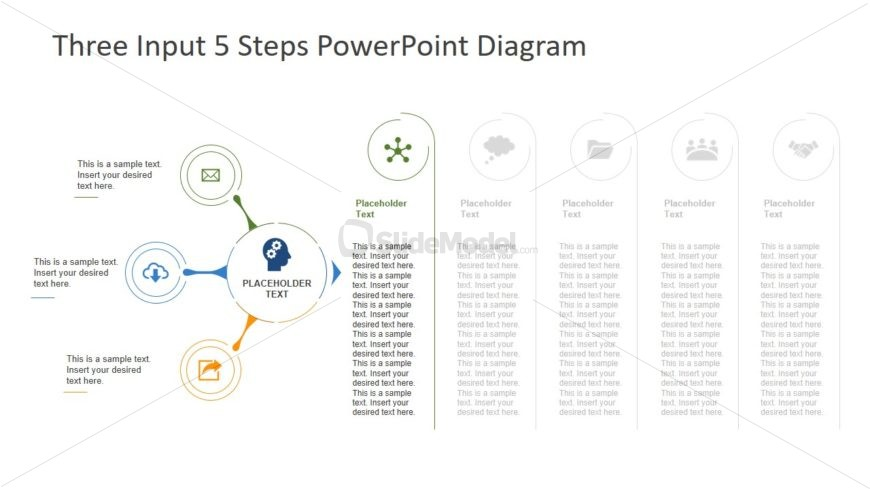 PPT Flat Infographic Process Diagram