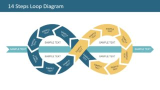 14 Steps Loop Diagram for PowerPoint