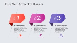 3 Steps Arrow Flow Diagram