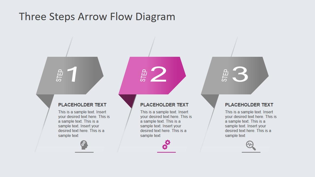 PPT 3 Steps Arrow Diagram