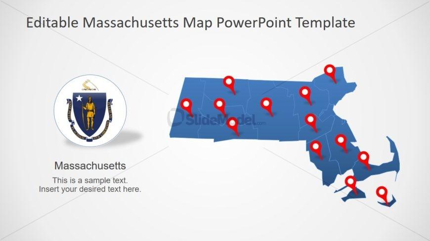 PPT Map of Massachusetts