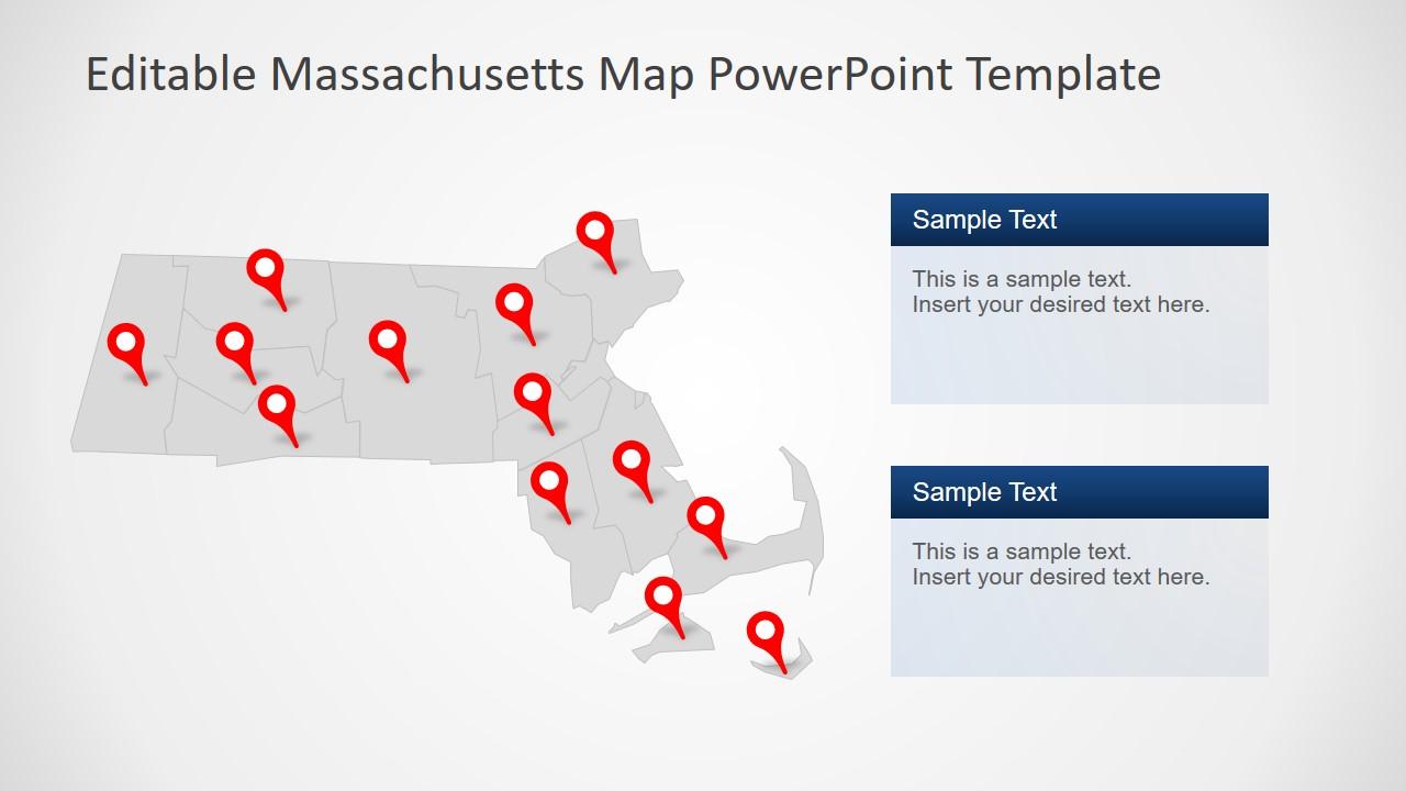 PowerPoint Map of Massachusetts