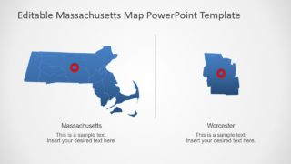 Silhouette Map of Massachusetts