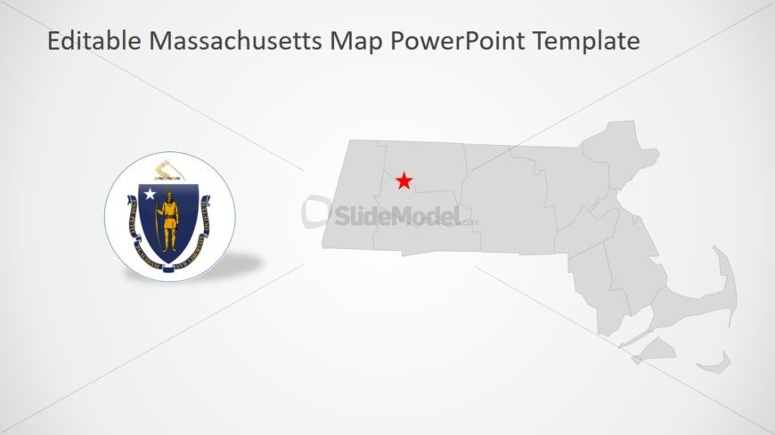 USA State Map of Massachusetts