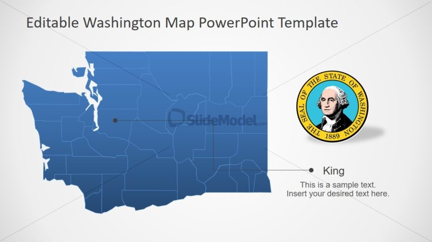 PPT Map Template for Washington