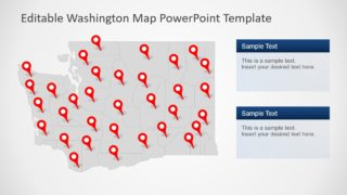 Gray Map Template Washington
