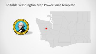 PowerPoint Map of Washington Template