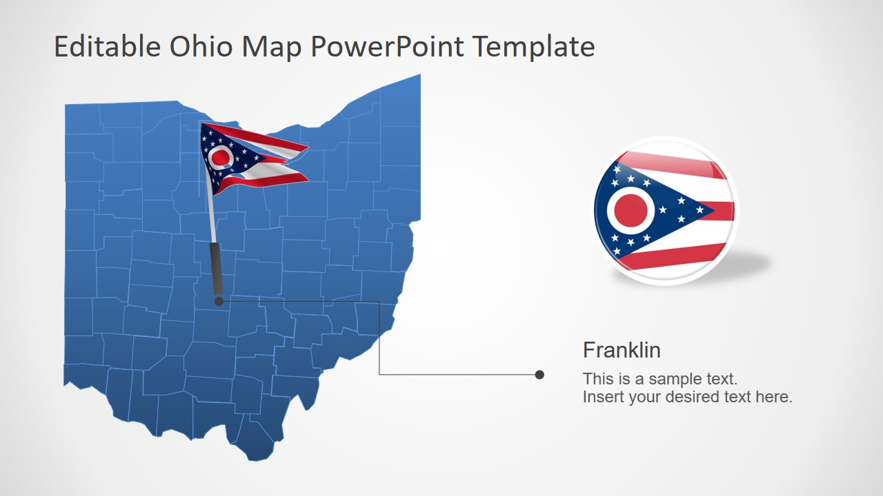 Flag PowerPoint Map Design