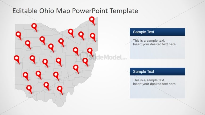 Ohio PowerPoint Map Template