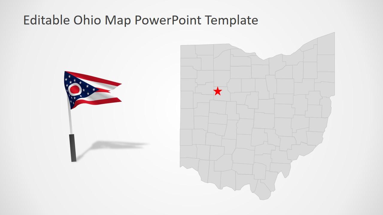 Flag of Ohio State of America