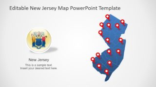 Editable New Jersey Map