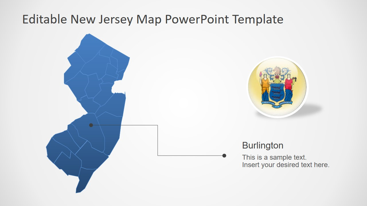Slide of Outline New Jersey Map