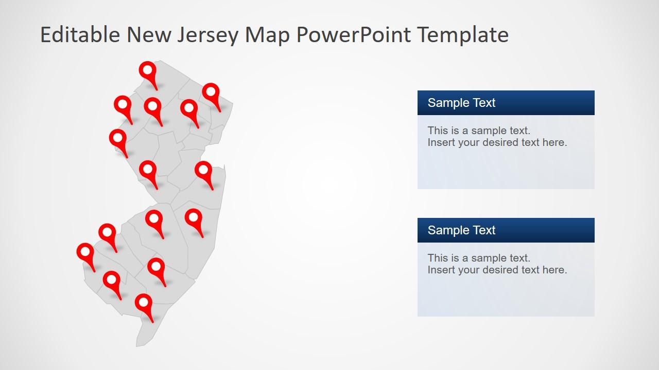 Editable Gray Map NJ