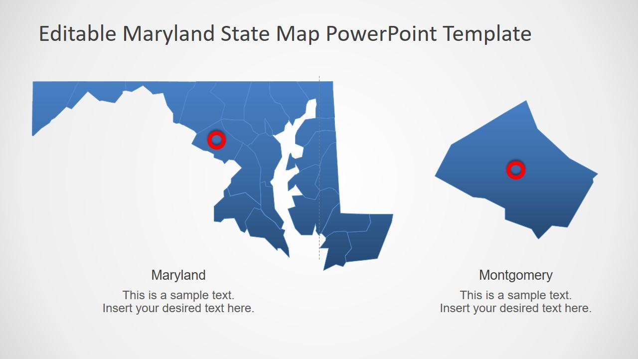 Blue Highlight Map Template