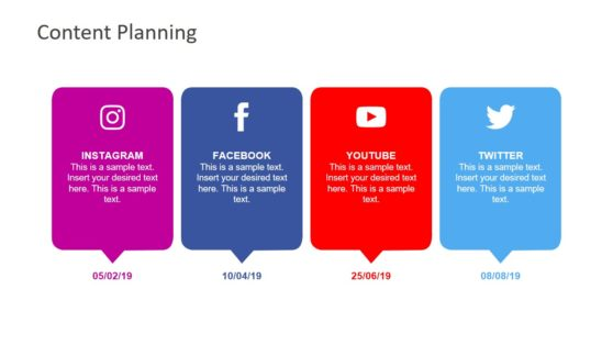 4 Social Media Platforms Analysis PPT